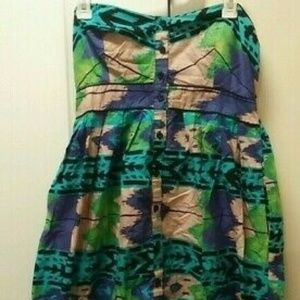 XHILARATION SIZE LARGE  STRAPLESS DRESS